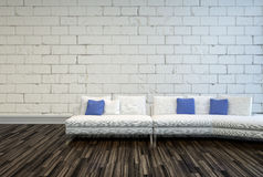 White Couch on an Architectural Living Room Royalty Free Stock Photos