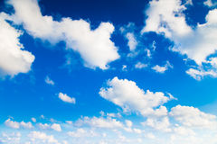 White could and blue sky.  Royalty Free Stock Photography