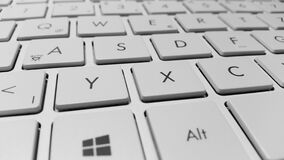 White Coumputer Keyboard Royalty Free Stock Photography