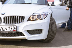 White coupe BMW-car z4 Royalty Free Stock Images