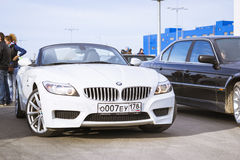 White coupe BMW-car z4 Stock Photos