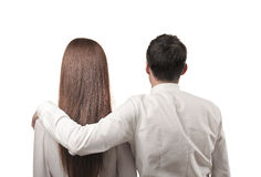 White Couple Royalty Free Stock Photography