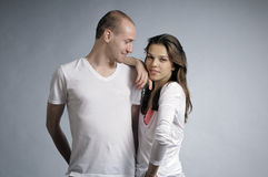 White couple posing Royalty Free Stock Photo