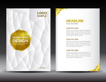 White Cover Annual report template Stock Photography