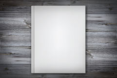 White cover book - empty white book cover on wooden desk Stock Photography