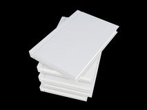 White cover book isolated on black. 3d render Royalty Free Stock Photos