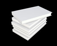White cover book isolated on black. 3d render Stock Images