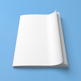 White cover empty magazine blank Royalty Free Stock Images