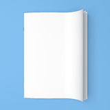 White cover empty magazine blank Stock Image