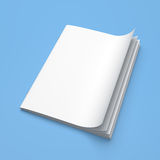 White cover empty magazine blank Stock Photos