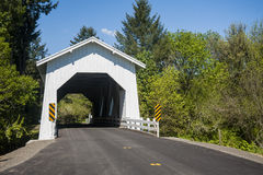 White covered bridge Royalty Free Stock Images