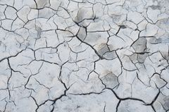 White cracked earth ground royalty free stock photo