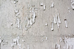 White cracked paint wall, grunge old background royalty free stock photo