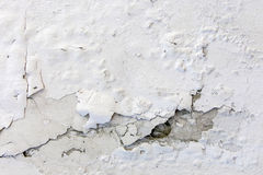 White cracked plastering wall background or texture Royalty Free Stock Photography