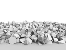 White cracked rock pieces of destruction wall Stock Image