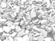 White cracked rock pieces of destruction wall Royalty Free Stock Photo