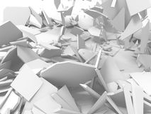 White cracked rock pieces of destruction wall Stock Images
