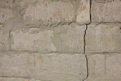 White cracked wall texture Stock Photos