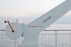White Crane, White Sea Royalty Free Stock Images