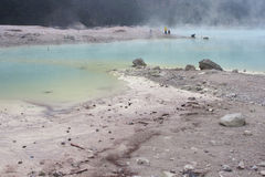 White Crater in Bandung, Indonesia. Kawah Putih (white crater) situated in South of Bandung, Indonesia. The color of the water is apple green because it contains Royalty Free Stock Photography