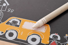White Crayon Royalty Free Stock Photo