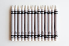 White Crayons Stock Photo