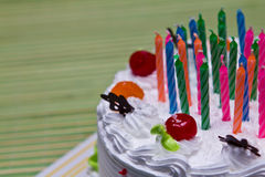 White Cream Cake. Stock Photo