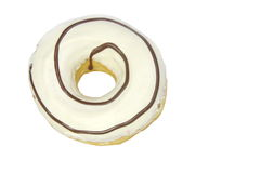 White cream donut Stock Images