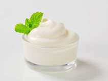 White Cream In A Bowl Royalty Free Stock Photo