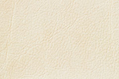 White cream paint genuine leather, pale beige color background or texture. For backdrop, substrate, composition use Royalty Free Stock Photos