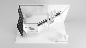 White creative exhibition stand design. Booth template. Corporat Stock Photography