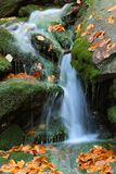White creek - waterfall. White creek - Most beautiful place in National park Sumava Czech Republic Europe Royalty Free Stock Photos