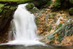 White creek - waterfall Royalty Free Stock Photos