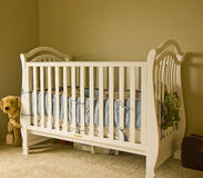 White Crib Stock Photo