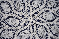 crochet background. A closeup of elaborate French crochet Stock Image