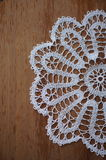 White crochet cloth Royalty Free Stock Photography
