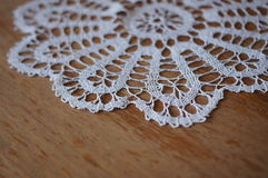 White crochet cloth Royalty Free Stock Photos