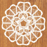 White crochet doily. Vector illustration. May be used for digital scrapbooking Stock Images