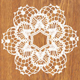 White crochet doily. Vector illustration. May be used for digital scrapbooking stock illustration
