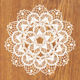 White crochet doily. Vector illustration. May be used for digital scrapbooking royalty free illustration