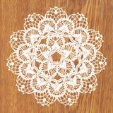 White crochet doily. Stock Image