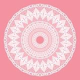 White crochet doily. Royalty Free Stock Image