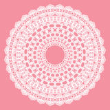 White crochet doily. Royalty Free Stock Image