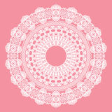 White crochet doily. Royalty Free Stock Images
