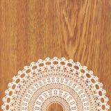 White crochet doily. Stock Photos