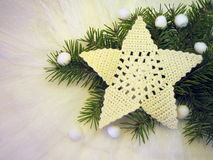 White crochet star Royalty Free Stock Photos