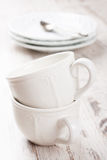 White crockery for tea Royalty Free Stock Image