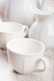White crockery for tea Royalty Free Stock Photos