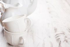 White crockery for tea Stock Photography