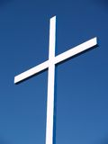 White cross. And blue sky Royalty Free Stock Photography